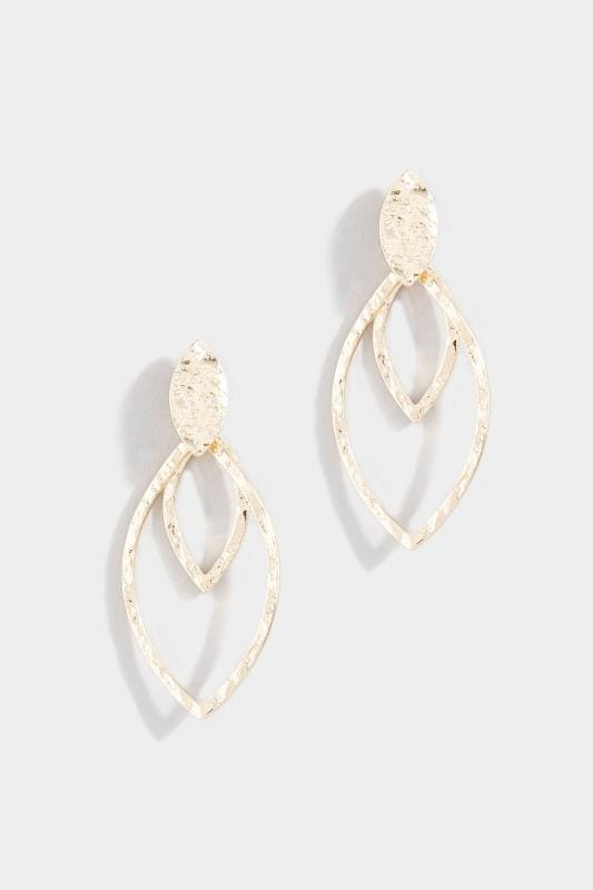 Gold Hammered Leaf Shape Earrings_6cb0.jpg