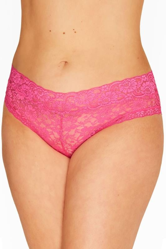 Hot Pink Lace Briefs