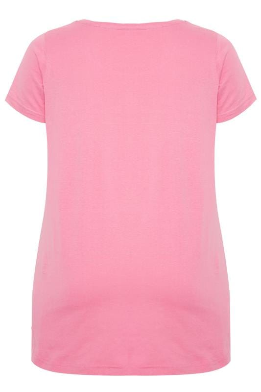 Pink 'I'd Rather Be Sleeping' Slogan Print Pyjama Top