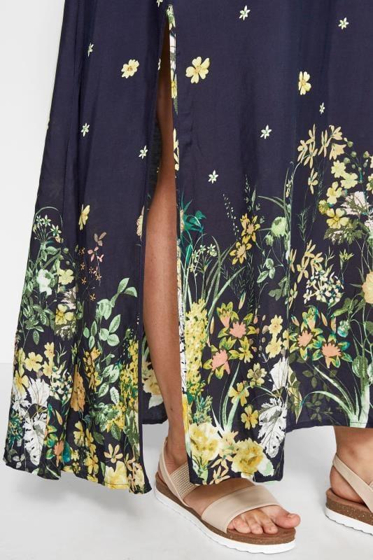 IZABEL CURVE Blumen-Maxi-Kleid - Dunkelblau
