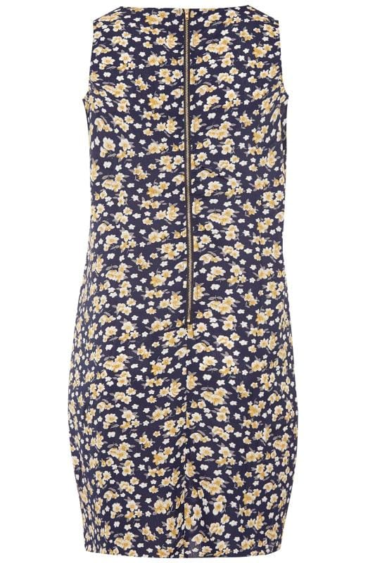 IZABEL CURVE Navy Floral Shift Dress