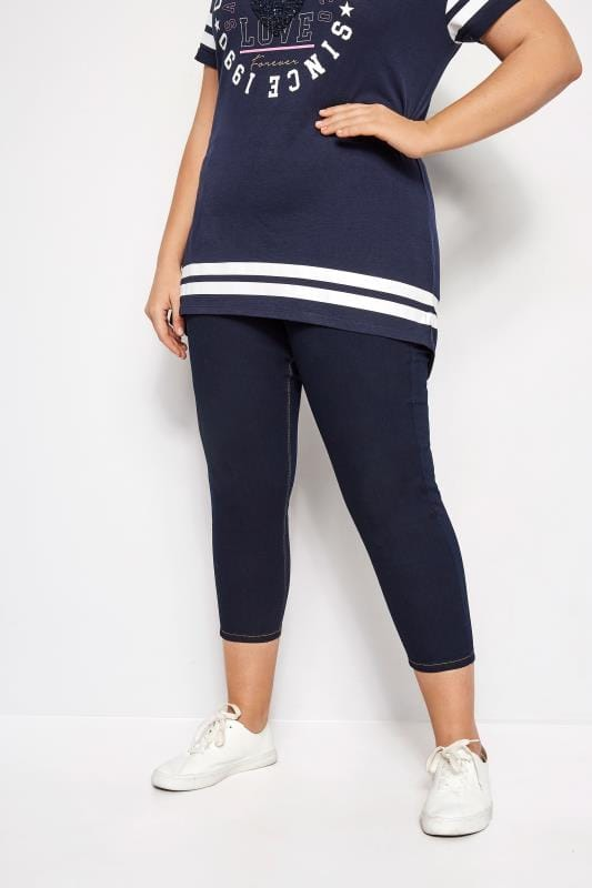 Plus Size Jeggings Indigo Blue Cropped JENNY Jeggings