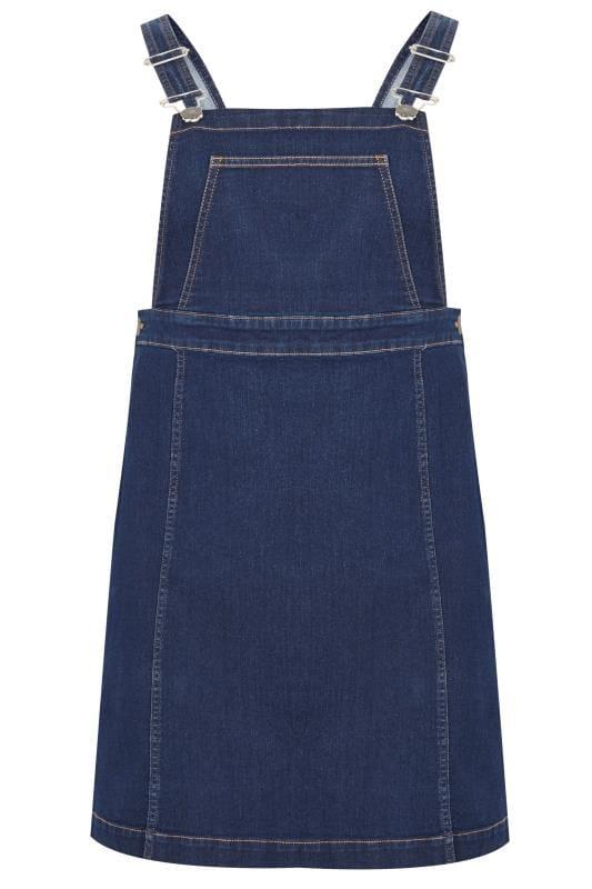 Indigo Blue Denim Pinafore Dress