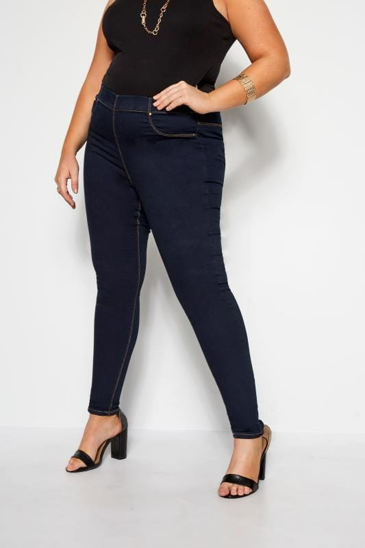 Jeggings dla puszystych Indigo Blue Pull On JENNY Jeggings