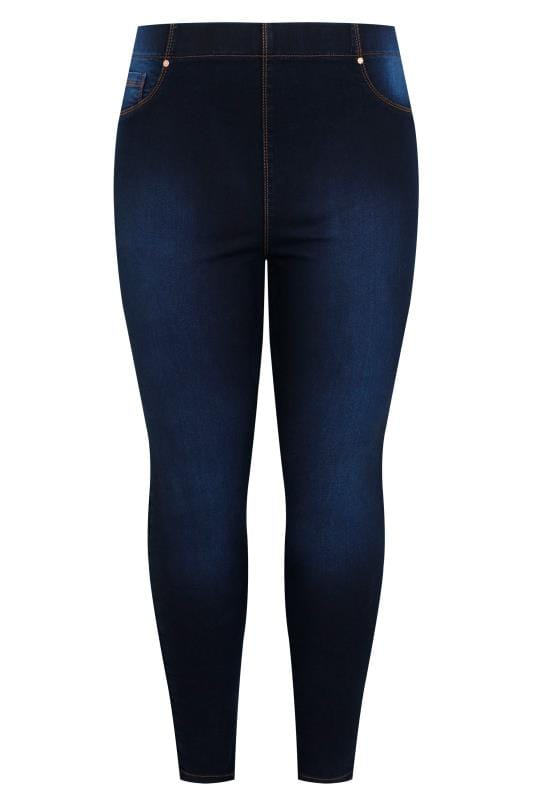 Indigo Blue Pull On Bum Shaper LOLA Jeggings