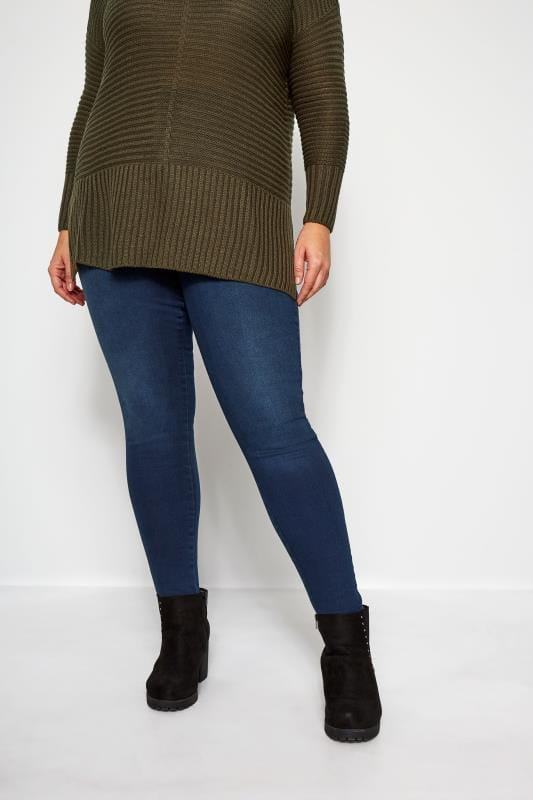 Große Größen Skinny Jeans Indigoblaue Skinnyjeans AVA