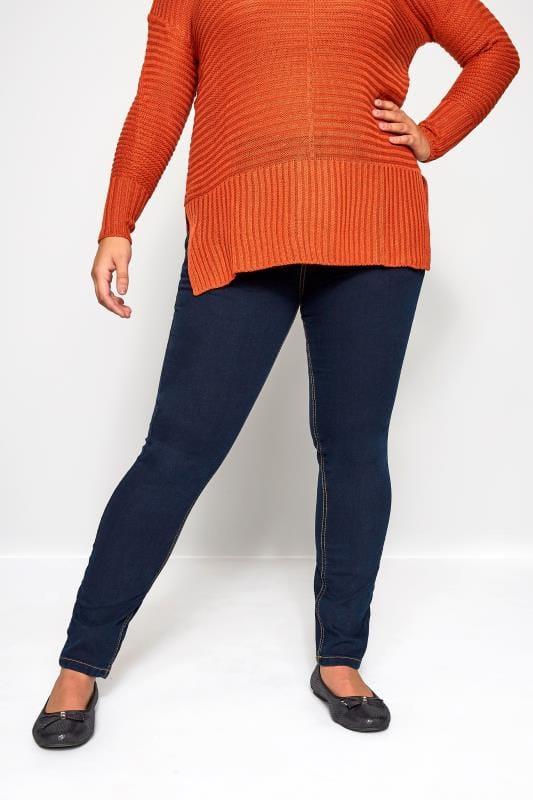 Indigoblaue Jeans mit geradem Bein RUBY