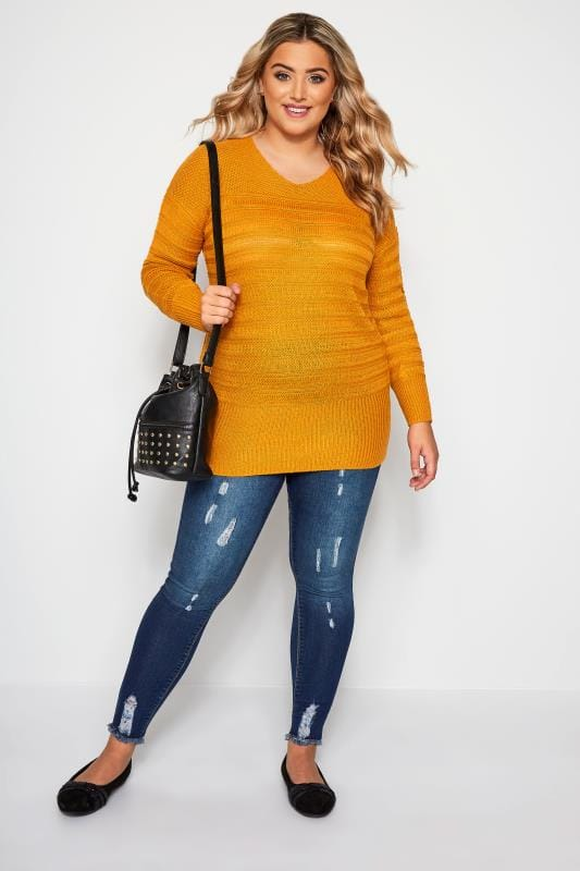Jeggings JENNY im Distressed-Look - Indigo