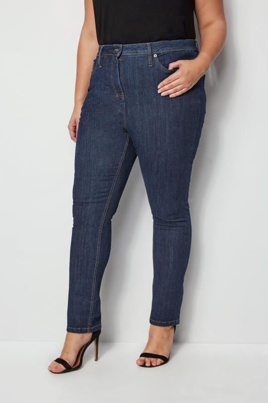 """Indigoblaue Jeans mit schmalem Bein """"Luxe Control"""""""