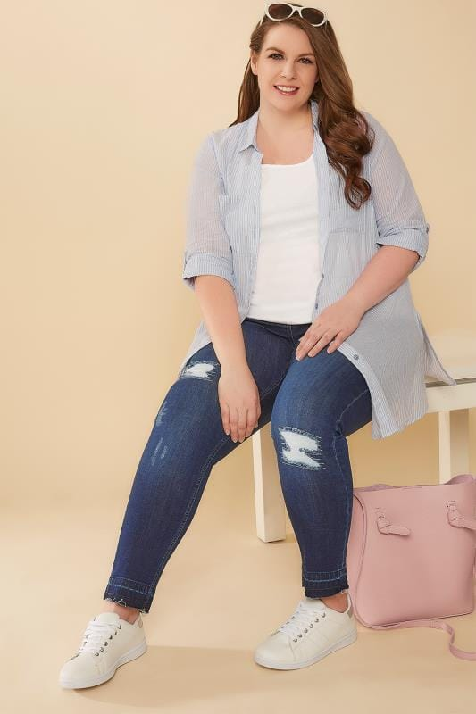 Indigo Rip & Repair Skinny AVA Jeans