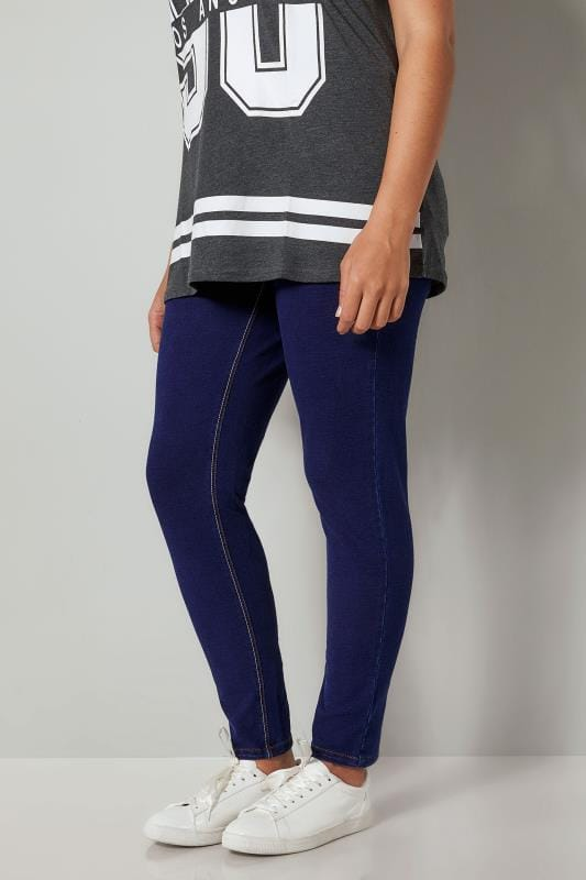 Plus Size Jeggings Indigo Blue Ultimate Comfort BEST FRIEND Jeggings