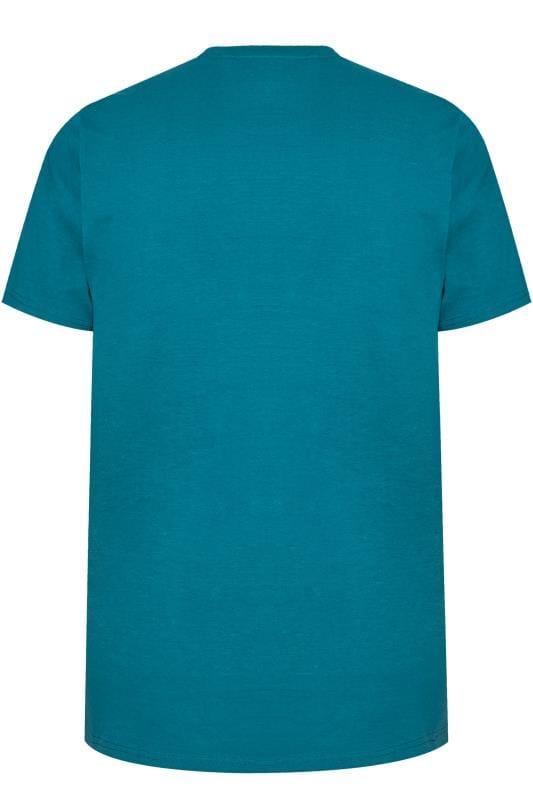 BadRhino Teal Island Print T-Shirt