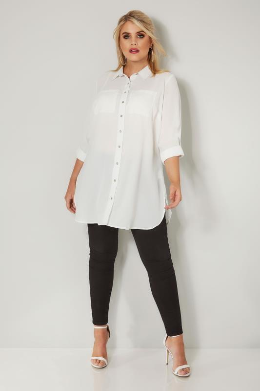 Ivory Chiffon Shirt
