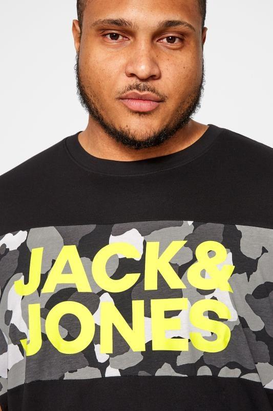 JACK & JONES Black Camo T-Shirt