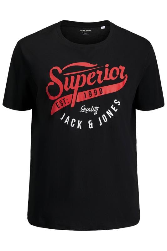 JACK & JONES Black Logo Chest Print T-Shirt
