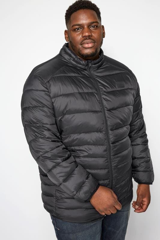 Coats JACK & JONES Black Puffer Coat 201377