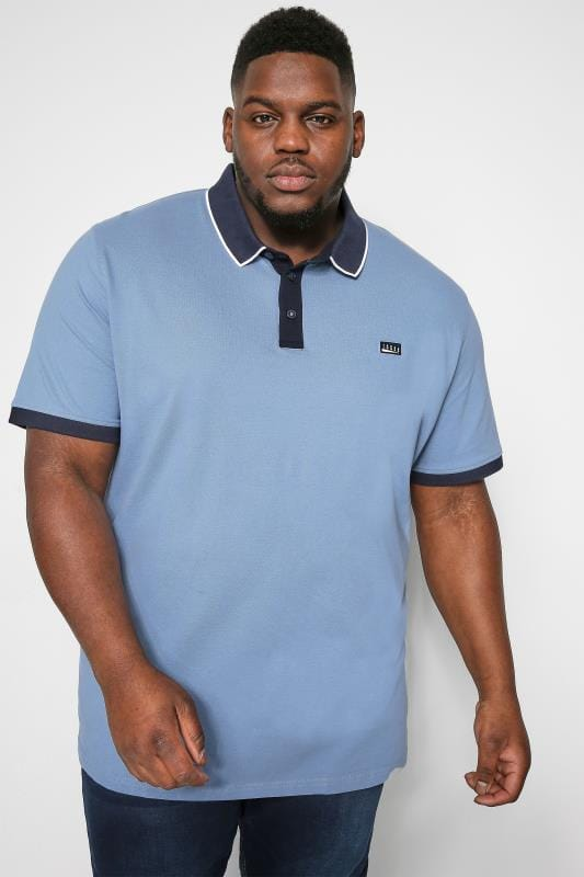 JACK & JONES Blue Tipped Polo Shirt