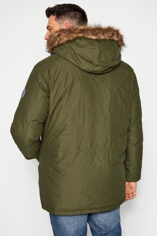 JACK & JONES Forest Green Parka Coat