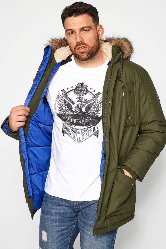 Plus Size Casual / Every Day JACK & JONES Forest Green Parka Coat