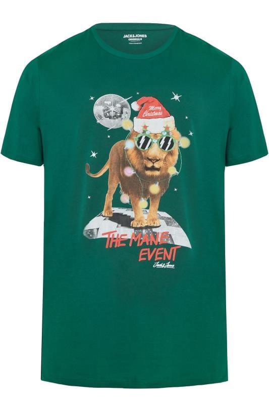 T-Shirts JACK & JONES Green Christmas Graphic T-Shirt 201351