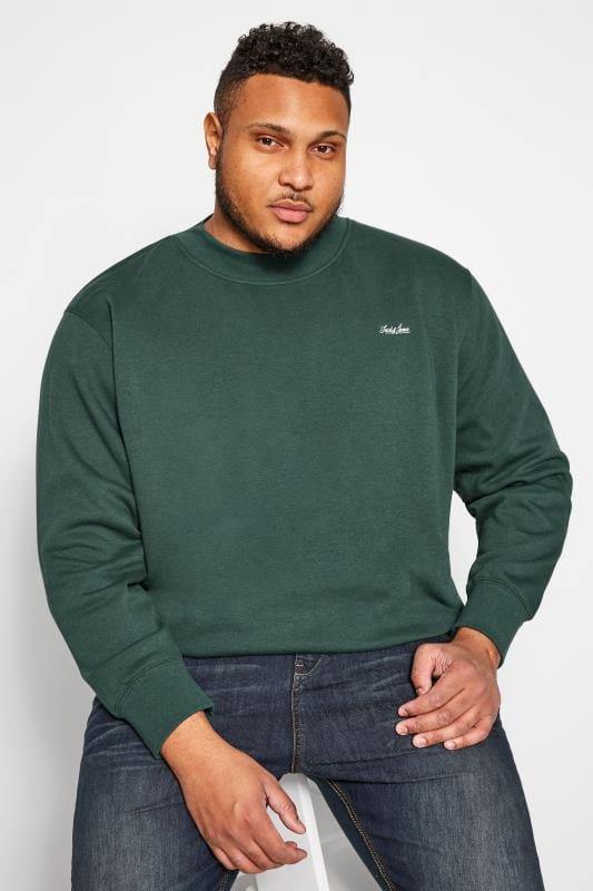 Sweatshirts JACK & JONES Green Crew Neck Sweatshirt 201980
