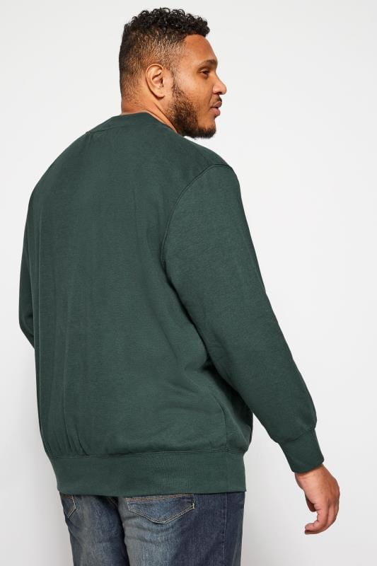 JACK & JONES Green Crew Neck Sweatshirt