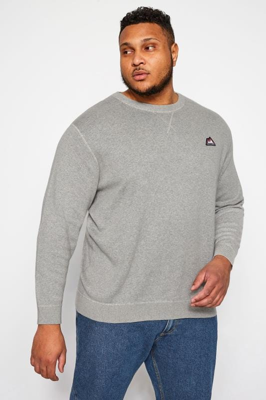 Sweatshirts JACK & JONES Grey Crew Neck Sweatshirt 201977