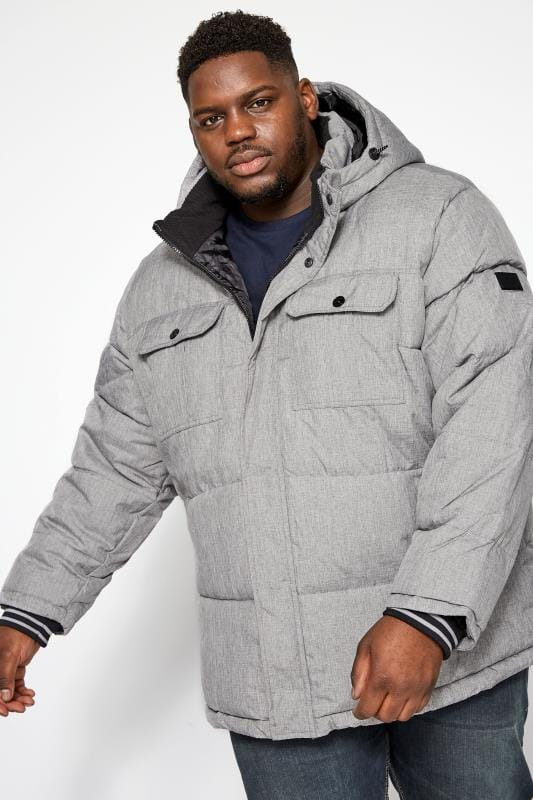 JACK & JONES Grey Puffer Jacket
