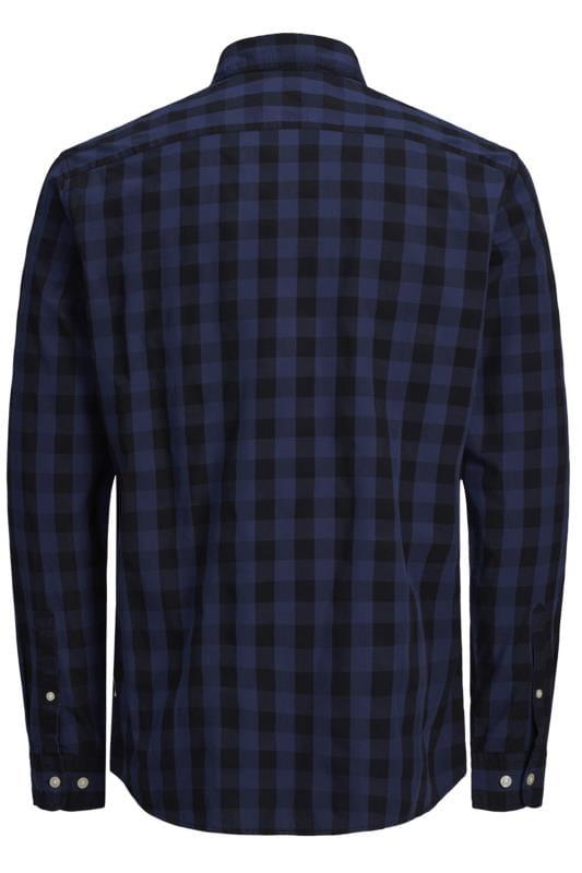 JACK & JONES Navy Gingham Check Shirt