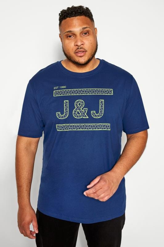 T-Shirts JACK & JONES Navy Graphic Print Logo T-Shirt 201380