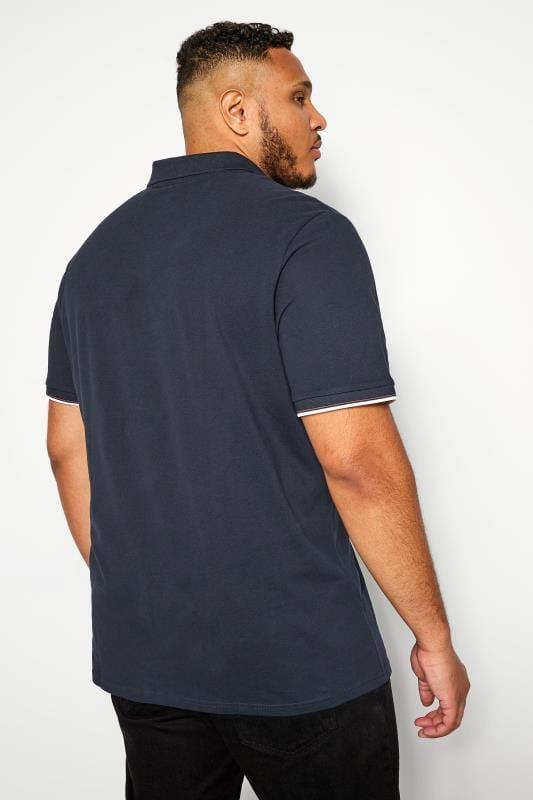 JACK & JONES Navy Logo Badge Polo Shirt
