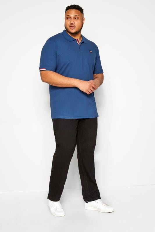 JACK & JONES Blue Logo Polo Shirt