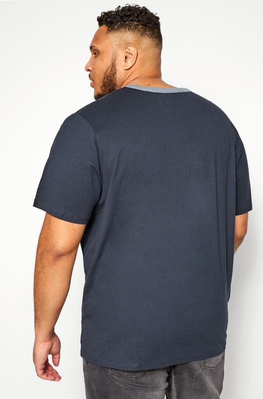 JACK & JONES Navy Logo Print T-Shirt