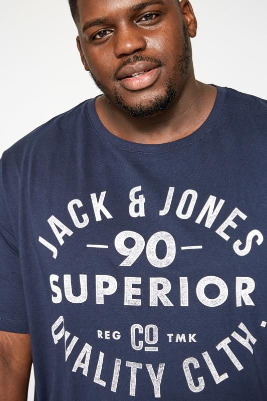 JACK & JONES Navy Logo T-Shirt