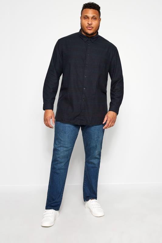 JACK & JONES Navy Stripe Shirt