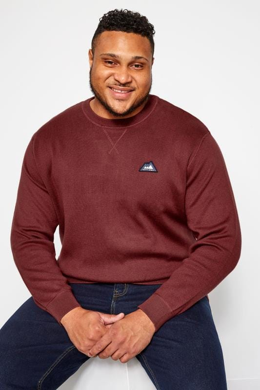 Sweatshirts JACK & JONES Red Crew Neck Sweatshirt 201979
