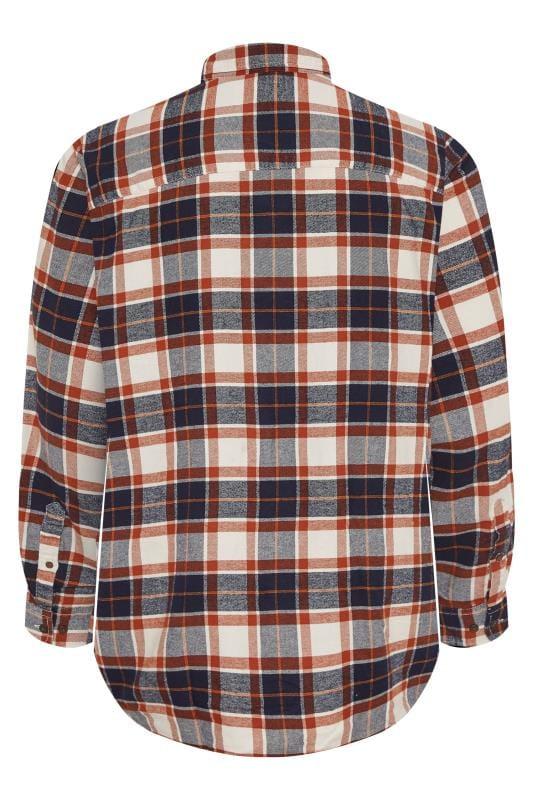 JACK & JONES Rust Check Long Sleeve Shirt