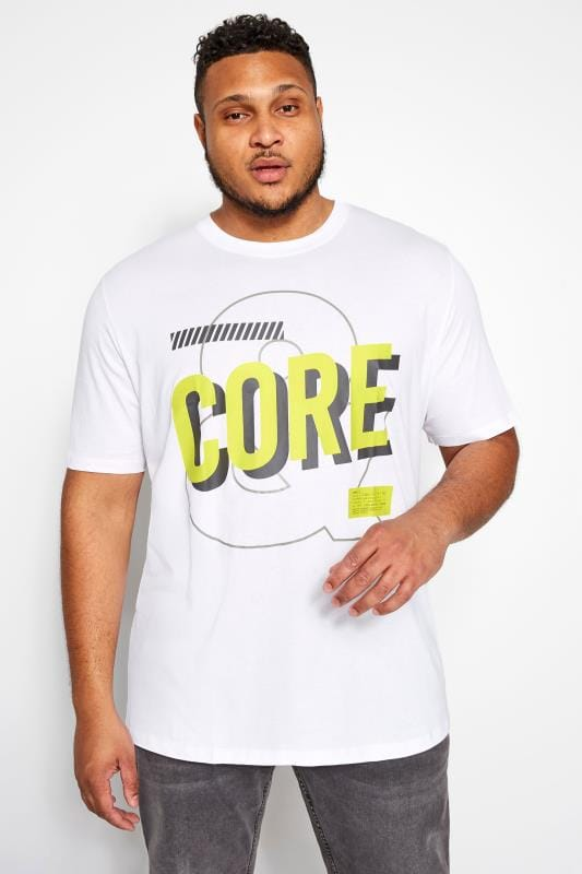 JACK & JONES White Logo Print T-Shirt