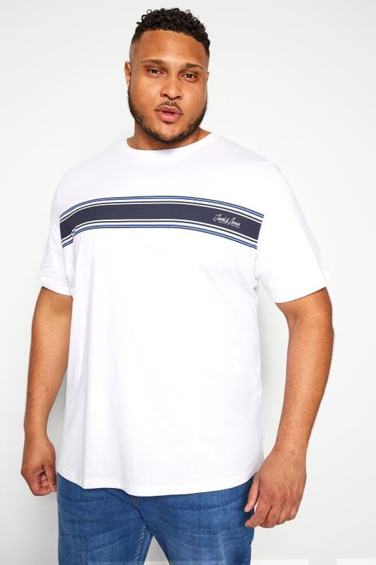 T-Shirts JACK & JONES White Stripe T-Shirt 201994