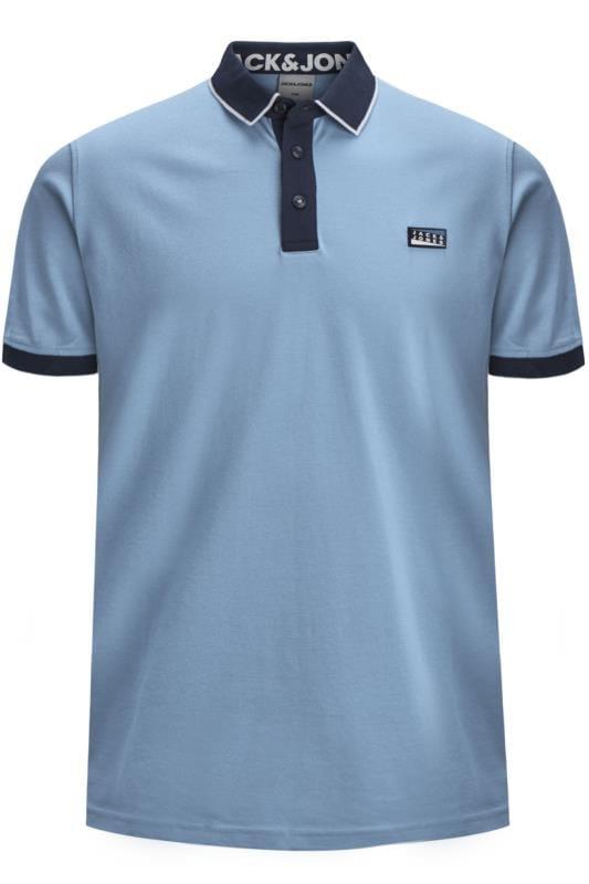 JACK & JONES Blue Tipped Polo Shirt