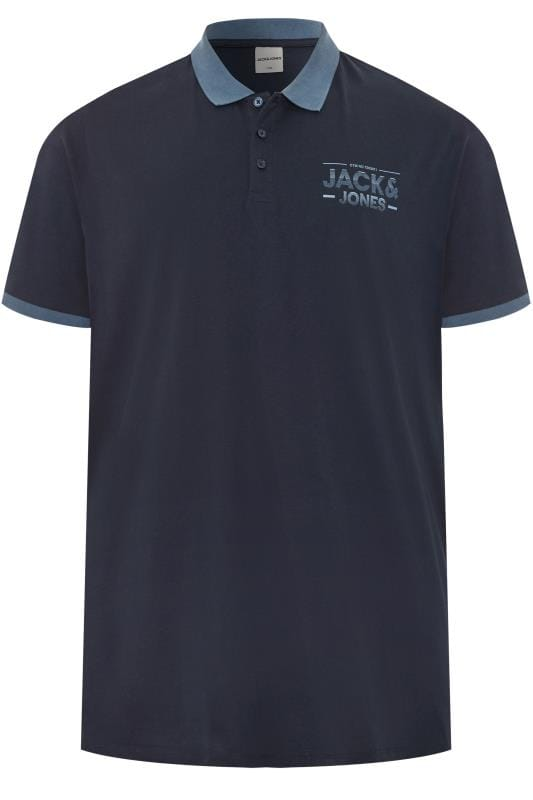 Polo Shirts dla puszystych JACK & JONES Navy Polo Shirt