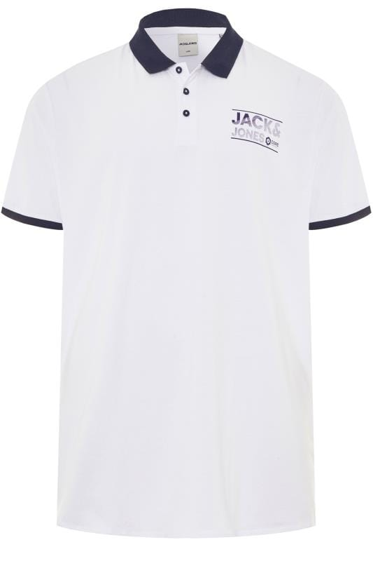 Polo Shirts JACK & JONES White Polo Shirt 201345