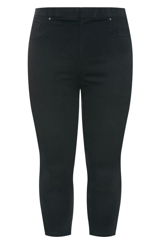 Plus Size Cropped Jeans Black Cropped JENNY Jeggings