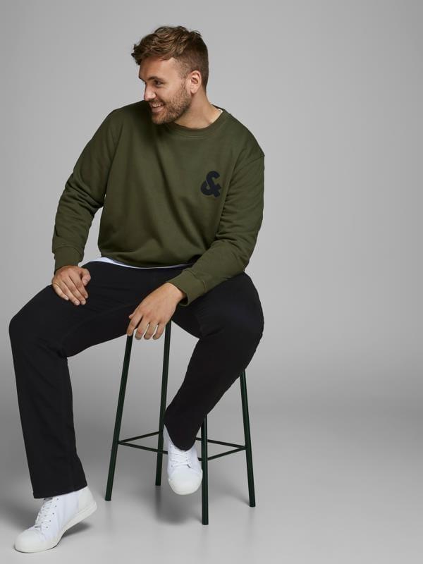 Plus-Größen Casual / Every Day JACK & JONES Black Original Slim Fit Jeans