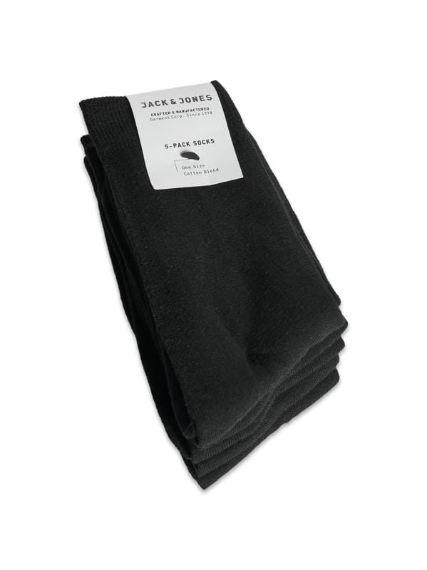 Socks JACK & JONES 5 PACK Black Ankle Socks 202805