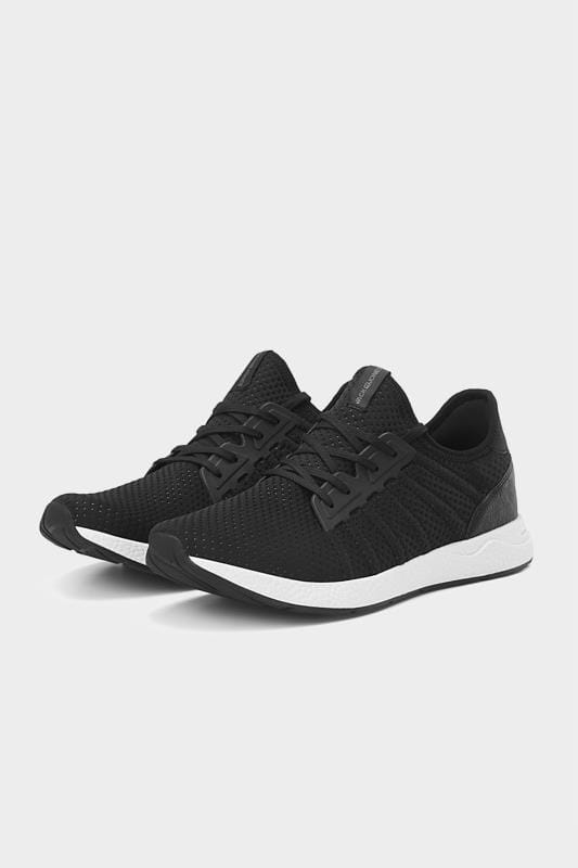 Plus Size Hats JACK & JONES Black Mesh Trainers