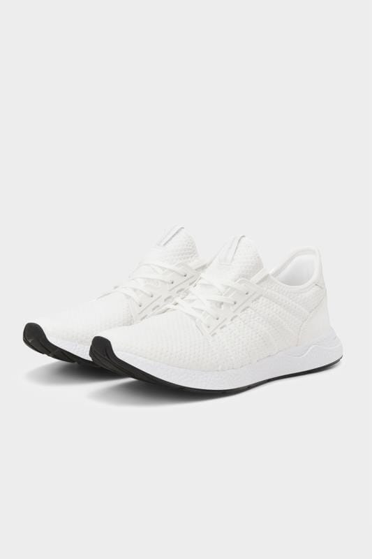 Plus Size Hair Accessories JACK & JONES White Mesh Trainers