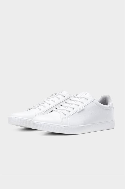JACK & JONES White Faux Leather Trainers