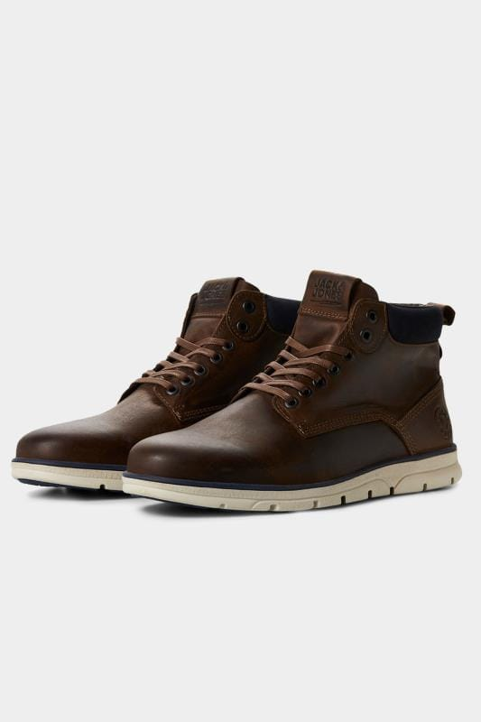 Footwear JACK & JONES Brown Leather Boots 202112