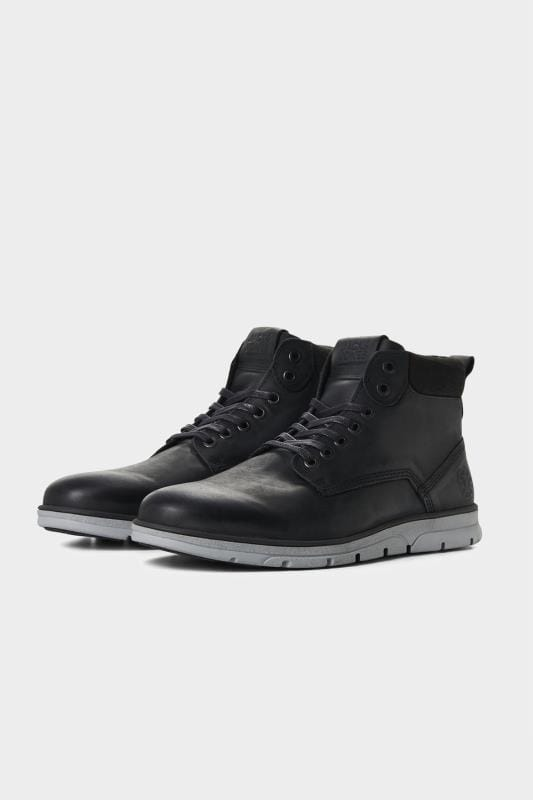 Footwear JACK & JONES Black Leather Boots 202113